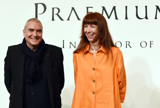 La danseuse Sylvie Guillem et l'architecte Dominique Perrault, lauréats du prix Praemium Imperiale, le 20 octobre 2015 à Tokyo © Toshifumi Kitamura AFP