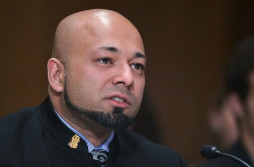 """Mubin Shaikh, auteur de l'ouvrage """"Undercover Jihadi"""", le 7 mai 2015, à Washington © Mandel Ngan AFP/Archives"""