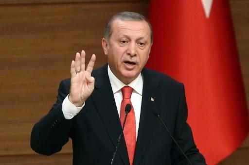 Recep Tayyip Erdogan, le président de la Turquie, le 19 octobre 2015, à Ankara © ADEM ALTAN AFP/Archives