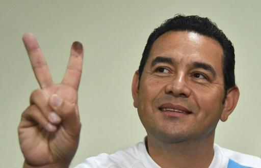 Le candidat à la présidentielle guatémaltèque Jimmy Morales, le 7 septembre 2015 à Guatemala © Rodrigo Arangua AFP