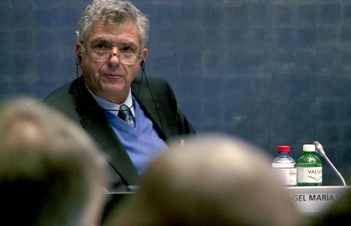 Le président de la Fédération espagnole (RFEF) Angel Maria Villar Llona à la réunion du comité exécutif de la Fifa, le 20 octobre 2015 à Zurich © - FIFA/AFP