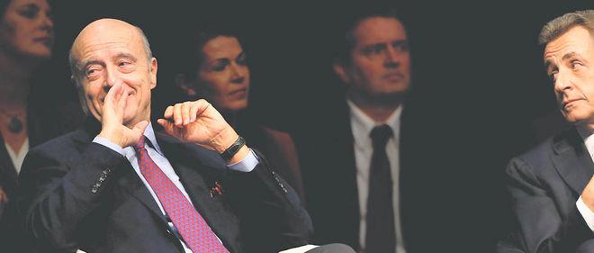 Alain Juppé et Nicolas Sarkozy, le 14 octobre 2015.