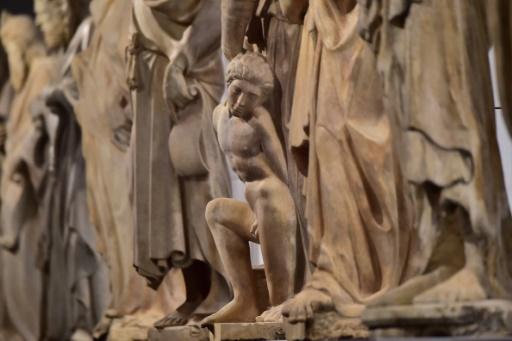 Des sculptures d'une galerie du musée du Duomo à Florence, le 21 octobre 2015 © GIUSEPPE CACACE AFP