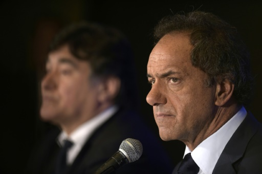 Daniel Scioli le 26 octobre 2015 à Buenos Aires © JUAN MABROMATA AFP