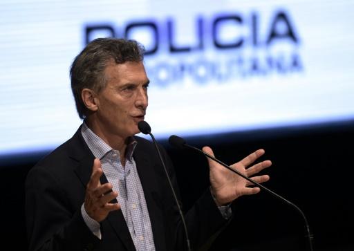 Le maire de Buenos Aires Mauricio Macri le 28 octobre 2015 dans la capitale argentine © JUAN MABROMATA AFP