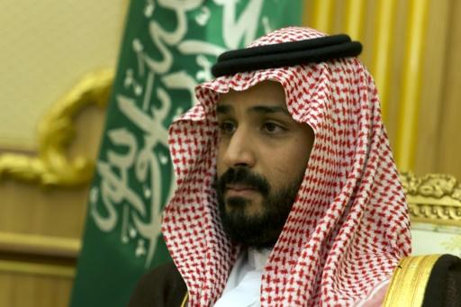 Mohamed ben Salmane, fils du roi d'Arabie et ministre de la Défense le 13 octobre 2015 à Ryad © KENZO TRIBOUILLARD AFP
