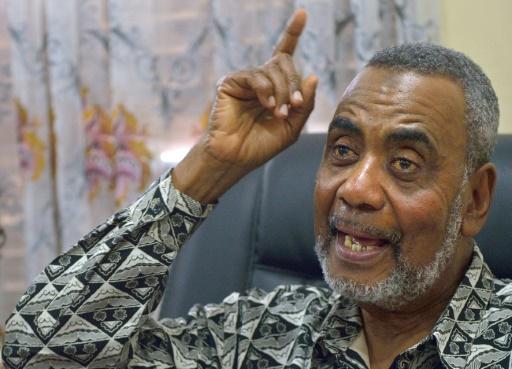 Le chef du principal parti d'opposition de l'archipel, le Front civique uni (CUF), Seif Sharif Hamad, à Zanzibar le 28 octobre 2015 © TONY KARUMBA AFP/Archives