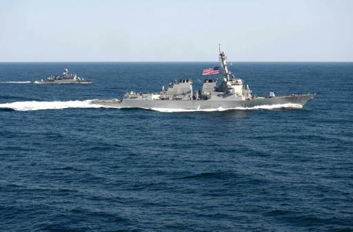 Le navire américain USS Lassen en Mer de Chine, le 12 mars 2015 © MC1 Martin Wright US Navy/AFP/Archives