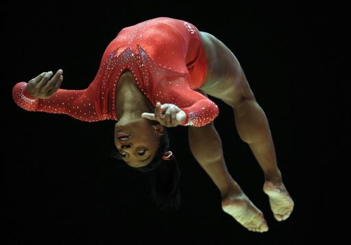 L'Américaine Simone Biles lors des championnats du monde de gymnastique artistique, le 29 octobre 2015 à Glasgow © Andy Buchanan, Andy Buchanan AFP