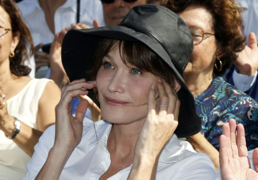 Carla Bruni Sarkozy le 19 juillet 2015 à Nice © Valery Hache AFP/Archives