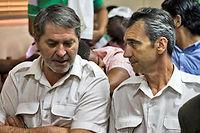 Pascal Fauret (à gauche) et Bruno Odos, souhaitent se défendre en France. ©ERIKA SANTELICES