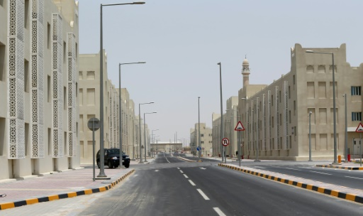 La plus grande cité-dortoir du Qatar, le 3 mai 2015 à Doha, destinée à héberger près de 70.000 travailleurs étrangers en vue du Mondial-2022 de football au Qatar © Marwan Naamani AFP/Archives