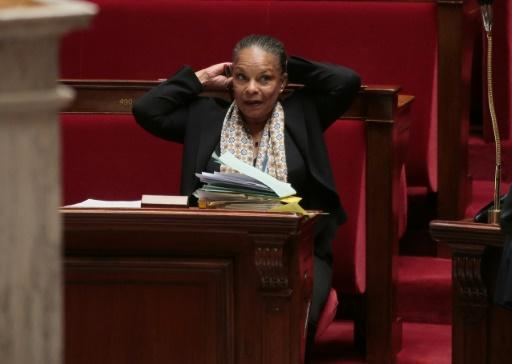 La ministre de la Justice, Christiane Taubira, le 21 octobre 2015 à l'Assemblée nationale, à Paris © JACQUES DEMARTHON AFP/Archives
