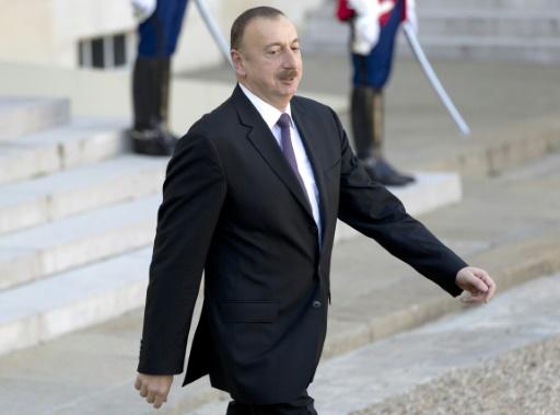 Le président de l'Azerbaïdjan, Ilham Aliev, le 27 octobre 2014, lors d'une visite à Paris © Kenzo Tribouillard AFP/Archives