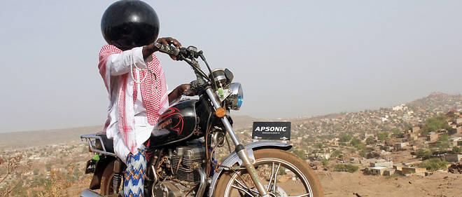 Photo extraite de la série Inch Allah d'Aboubacar Traoré, prix de  l'Organisation internationale de la Francophonie. Le Malien raconte le temps sous le joug des djihadistes qui représentent une  menace pour le pays et le monde.