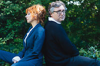 Mylene Farmer et Michel Onfray, le 9 octobre, au Raincy (Seine-Saint-Denis).