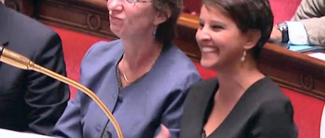 Najat Vallaud-Belkacem à l'Assemblée.