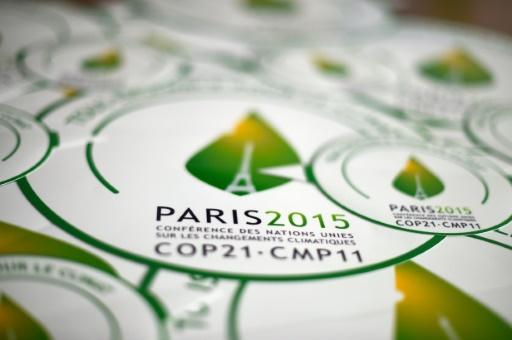 Le logo de la COP21 à Paris © Dominique Faget AFP/Archives