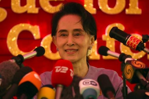 L'opposante birmane Aung San Suu Kyi, le 5 novembre 2015 à Rangoun © ROMEO GACAD AFP