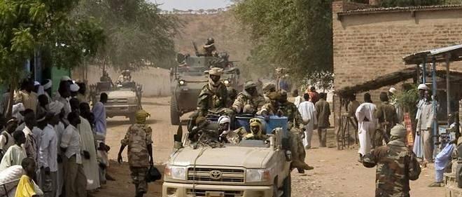 Soldats tchadiens quittant le sol camerounais.