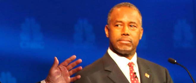Le candidat aux primaires républicaines Ben Carson lors d'un débat télévisé.