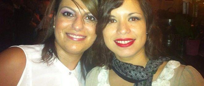 Sihem Souid (à gauche) et son amie Elsa (à droite) tuée dans les attentats du 13 novembre.