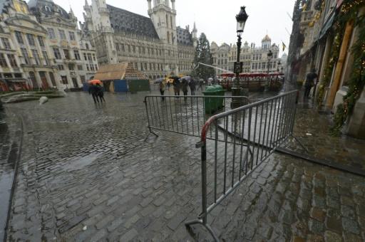La Grand Place à Bruxelles, quasi déserte, le 21 novembre 2015 © JOHN THYS AFP