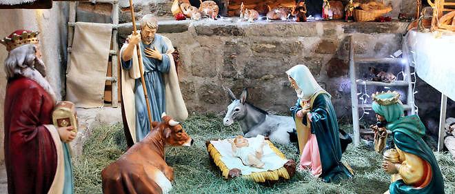 Photo d'illustration d'une crèche de Noël, ici celle de Luceram.