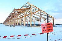 Le futur centre d'engraissement collectif de jeunes bovins situé à Saint-Martial-le-Vieux dans la Creuse doit ouvrir en février 2016. ©Pauline Tissot
