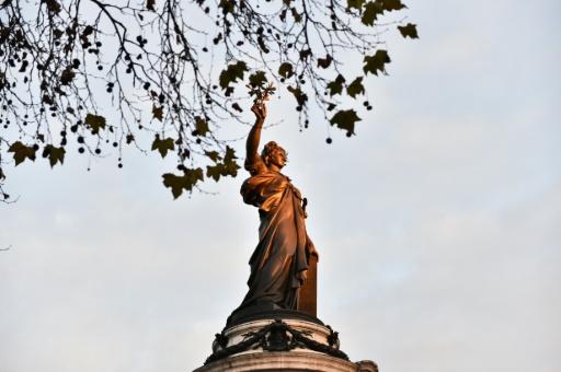 La statue de Marianne, place de la République, le 22 novembre 2015 à Paris © LOIC VENANCE AFP/Archives