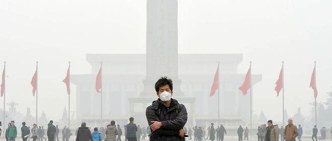 La capitale chinoise est touchée par une forte pollution. Une alerte orange a été lancée par les autorités.