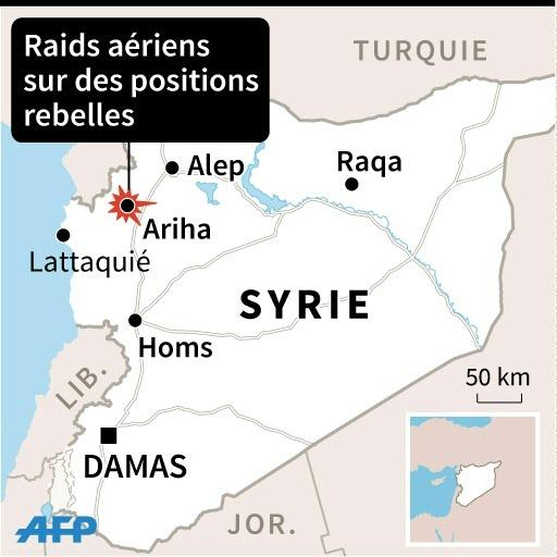 Raids aériens sur des positions rebelles à Ariha © Jonathan JACOBSEN, Valentina BRESCHI, Vincent LEFAI AFP