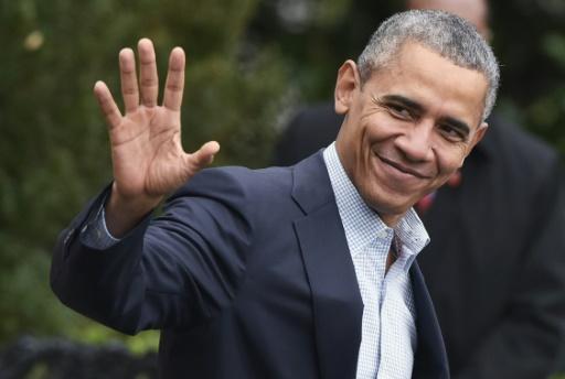 """Attendu dimanche soir à Paris, Barack Obama s'est dit """"optimiste sur ce que nous pouvons accomplir"""". © MANDEL NGAN AFP"""