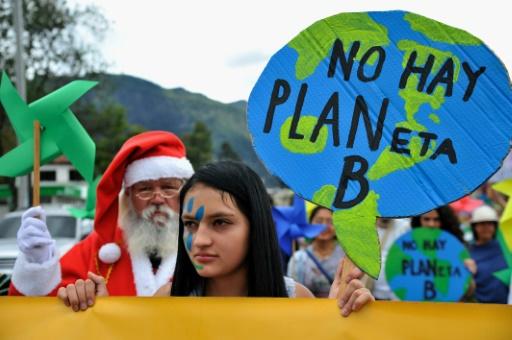Marche pour le climat, le 29 novembre 2015 à Bogota © GUILLERMO LEGARIA AFP