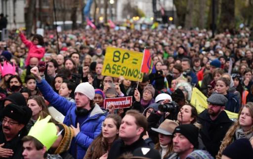 Manifestation pour le climat, le 29 novembre 2015 à Londres © LEON NEAL, LEON NEAL AFP
