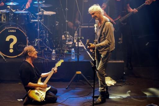 Jean-Louis Aubert (g) et Louis Bertignac sur scène, le 15 septembre 2015 à Lille © DENIS CHARLET AFP/Archives