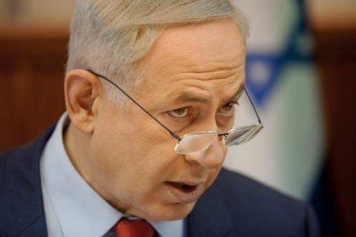 Le Premier ministre israélien Benjamin Netanyahu, le 29 novembre 2015 à Jérusalem © DAN BALILTY POOL/AFP