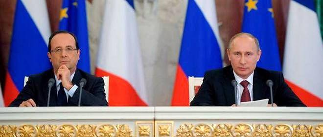 François Hollande et Vladimir Poutine.