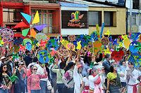 Marche pour le climat le 29 novembre à Bogota. Selon Oxfam, dix pour cent des habitants les plus riches de la planète sont responsables de plus de la moitié des émissions de CO2.  ©GUILLERMO LEGARIA