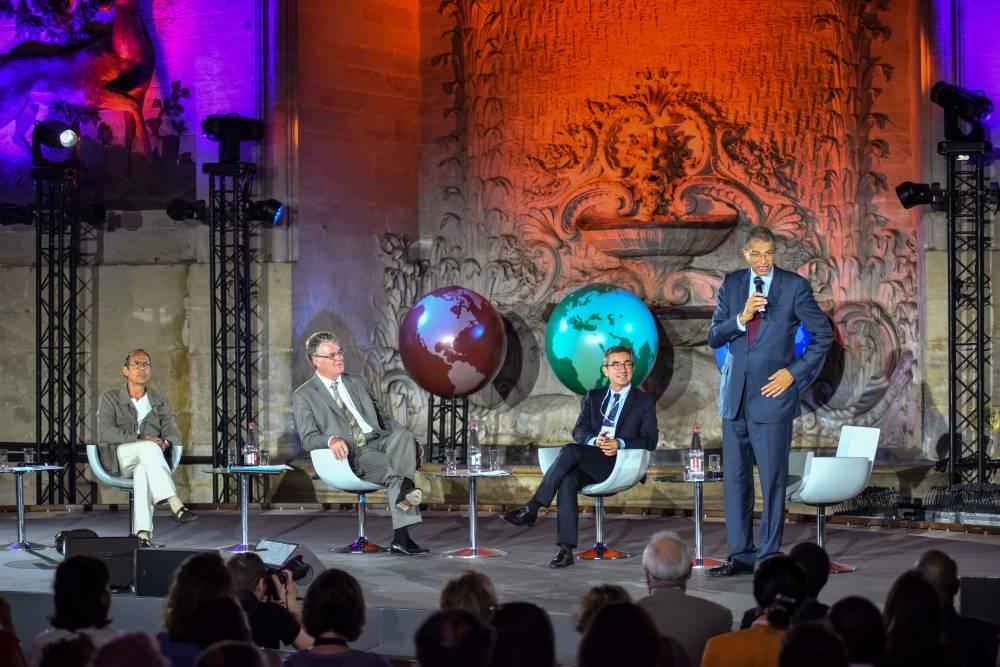 Lionel Zinsou lors de la Global Conference en juillet 2015 à Chantilly. ©  Olivier Toussaint