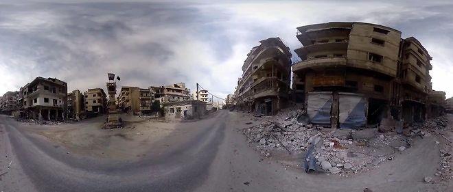 Les rues dévastées de Jisr Al-Choughour, dans le nord-ouest de la Syrie, entre mai et juillet 2015.