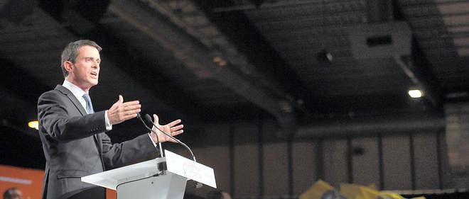 Manuel Valls a tenu un discours très offensif vis-à-vis du Front national le 3 décembre pour le dernier meeting des régionales.