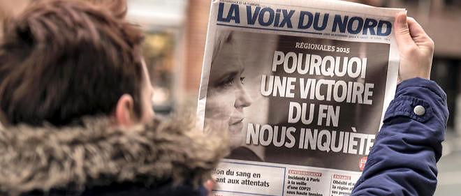 """La une de """"La Voix du Nord"""" du 30 novembre, """"Pourquoi une victoire du FN nous inquiète"""", a suscité des réactions très violentes."""