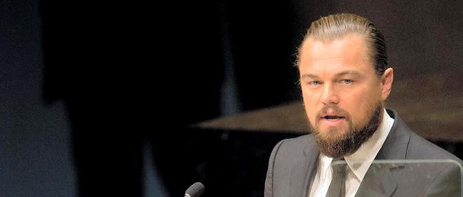 Leonardo DiCaprio fait un discours à la 69e Assemblée générale des Nations unies le 23 septembre 2014 à New York.