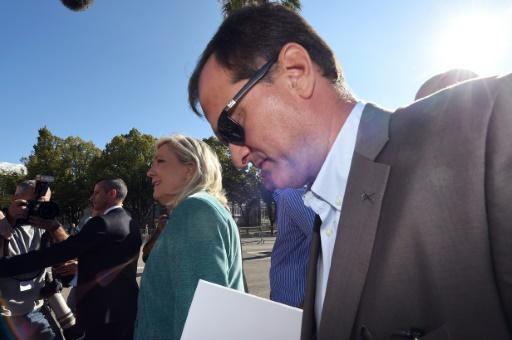 Marine Le Pen et Louis Aliot le 5 septembre 2015 à Marseille © ANNE-CHRISTINE POUJOULAT AFP