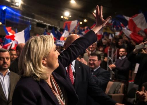 Marine Le Pen en meeting le 30 novembre 2015 à Lille © PHILIPPE HUGUEN AFP/Archives