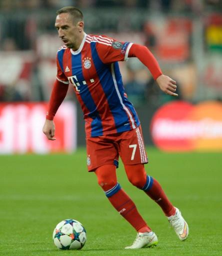 Franck Ribéry, avec le Bayern, lors du match contre Shakhtar Donetsk à Munich, le 11 mars 2015 © CHRISTOF STACHE AFP/Archives
