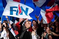 Marine Le Pen en meeting à Marseille en 2013. ©BERTRAND LANGLOIS