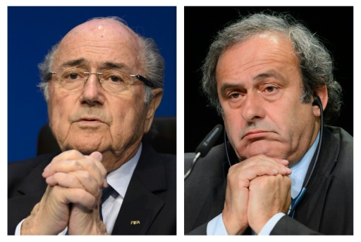 Montage de photos de Joseph Blatter et Michel Platini © - AFP/Archives