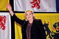 Dimanche, au second tour des régionales en Picardie-Nord-Pas-de-Calais, Marine Le Pen a été sèchement battue par le candidat des Républicains Xavier Bertrand. ©DENIS CHARLET